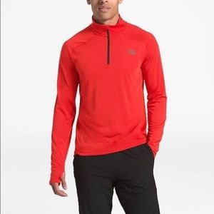 The North Face Men's Red Quarter Zip